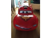 REDUCED motorised lightening McQueen car