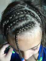Offering to braid hair