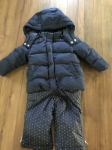 Gap down filled jacket and snow pants