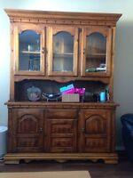 Solid wood China cabinet!!