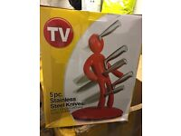 5pc Stainess Steel Man Block