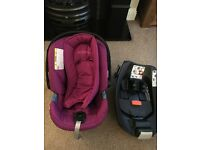 Cybex for mamas and papas Aton Fuschia car seat with Isofix rrp £200