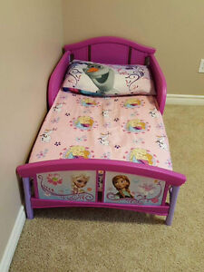 Girls toddler bed with mattress for sale