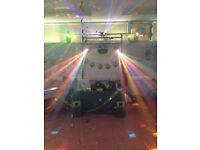 Disco lights and pa hire now available