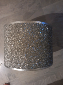 Lampshade Silver glitter