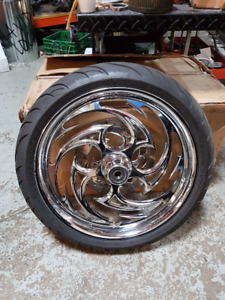 """RC components Savage 21""""x3.5 Front 17x5.5 Rear with Rubber"""