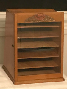 Antique General Store Counter Top Display Cabinet