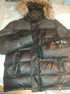 Rudsak winter jacket real fur leather MEDIUM men