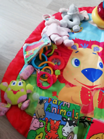 Play mat and baby toys