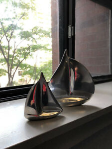 Hoselton Aluminum Sailboat Sculptures