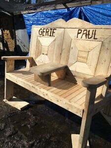 Handmade Wood Chairs Rustic Custom Order RV Trailer Firepit Fun
