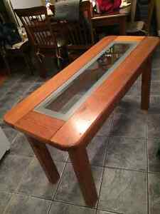 Long side table, real wood! Cambridge Kitchener Area image 1