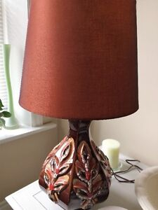 Pottery Lamp and shade