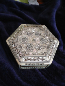 Hand crafted mother of pearl