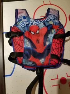 Veste d'aide à la natation spiderman (pas une veste de sauvetage