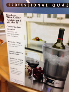 """""""Reduced Price"""" Cordless Wine Chiller, Now Only $20.00"""