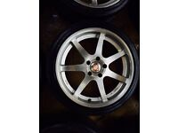 "19"" STAGGERED CALIBRE ALLOY WHEELS BMW 1 SERIES 3 SEIES 5 SERIES SET OF 4"