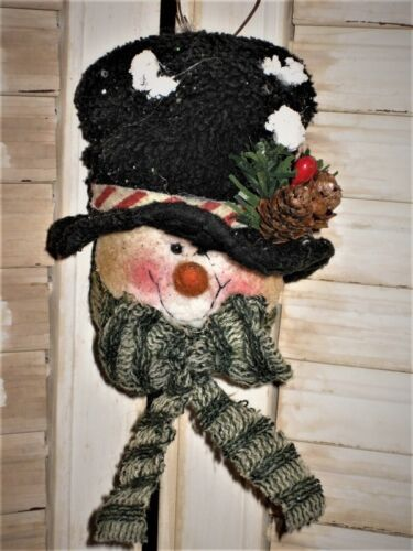SNOWMAN HEAD Ornament use on Tree, Wreath, Garland any decoration  # 1 cl