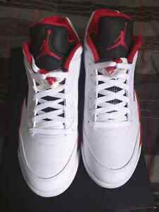 Air Jordan 5 low fire red size 10