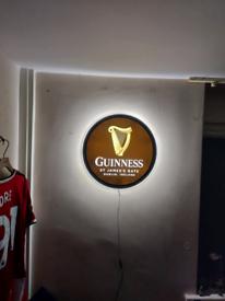 Guinness st james's gate dublin light up sign vintage