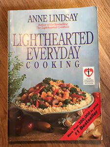 ANNE LINDSAY COOKBOOKS - USED BUT IN EXCELLENT CONDITION!