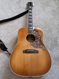 Sigma DM-SG5+ electro acoustic guitar (hummingbird)