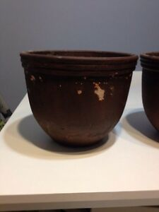 2 brown pots Kitchener / Waterloo Kitchener Area image 2