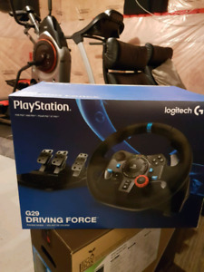 Logitech G29 steering for ps4 $375 or OBO still has warranty