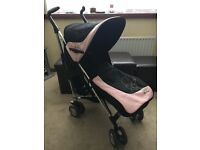 FANTASTIC Silver Cross Pop Stroller - Pink - with footmuff & raincover