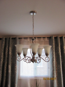 5 light satin nichel chandelier