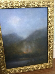 Original Antique European Painting on board