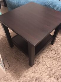 Ikea Hemnes side table black/brown