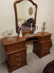Italian bedroom vanity plus night table