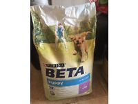 New bag of beta puppy food