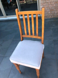 4 Dining Room Chairs Oak Newly Upholstered