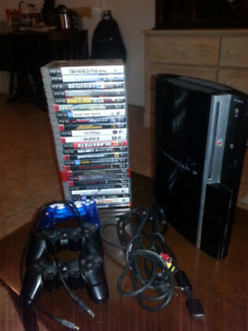 PS3 (80GB), 25 Games, Three controllers and all hookups