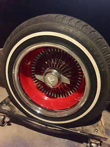 Red powder coated Wire wheels to trade