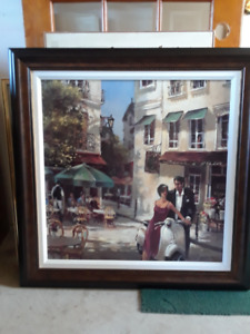 1 Reproduction de tableau Café d'Italie Artwork reproduction