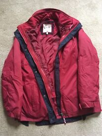 Joules 3 in 1 coat size 10