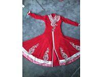 Women's Asian Indian anarkali shalwar kameez suit kameez churidar shalwar outfit