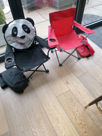 Kids Camping chairs x 2