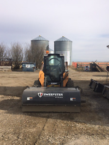Parking lot cleaning and Skidsteer Services