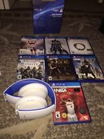 items ps4 casque sony, nhl16,TESO, Mortal Combat etc..