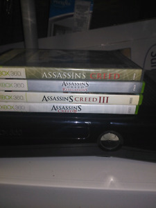 Xbox 360 with assassins creed collection
