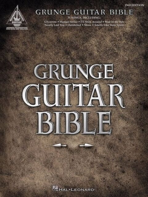 GRUNGE GUITAR BIBLE TAB Book *NEW* Guitar Recorded Version Songbook
