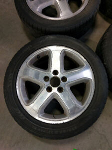 17in mags with tires 215/55/R17 5x114.3 17po Roues et pneus West Island Greater Montréal image 1