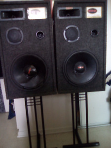 As Is Prodigy speaker stacks on stands...make fair offer