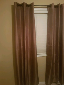 Brown curtains- 2 panels