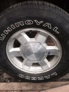 4 Rims And Tires From 2005 GMC Sierra 1500