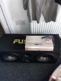Car sub and amp